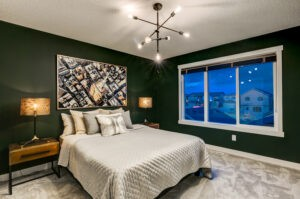 Master Bedroom designed by New Home Builder in South Edmonton