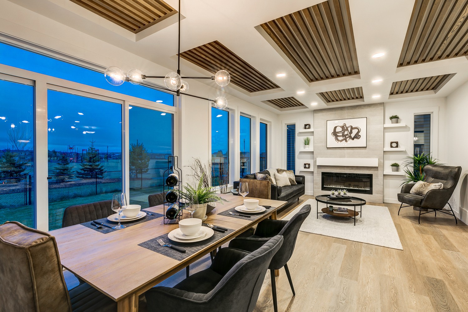 Main Floor Photo of Tofino Model by Edmonton's Best Home Builder