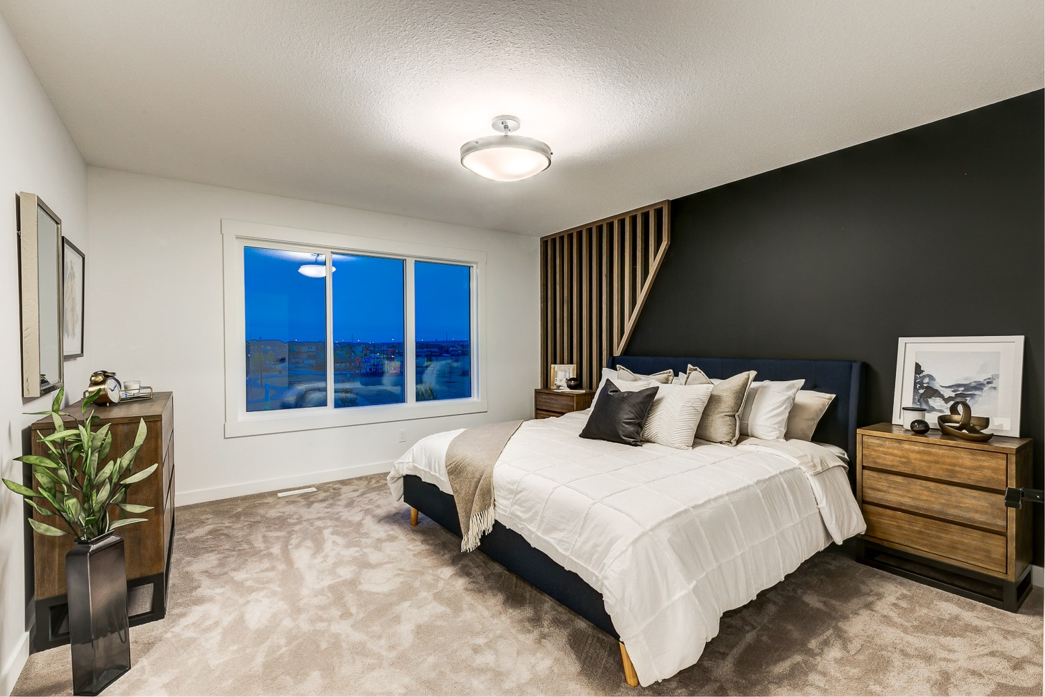 Master Bedroom by the Best Home Builder in Edmonton