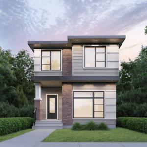 Rear Detached Garage Home by Edmonton New Home Builder City Homes Master Builder